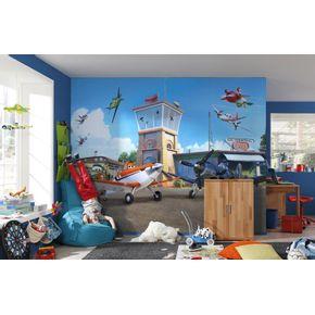 Mural-de-Parede-Infantil-Avioes-no-Hangar