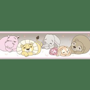 Faixa-de-Parede-Treboli-Rosa-Animais-Dormindo-5912
