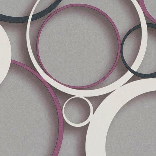 Papel de Parede DDD em 3D MAX 28304 Círculos - Rolo: 10m x 0,53m