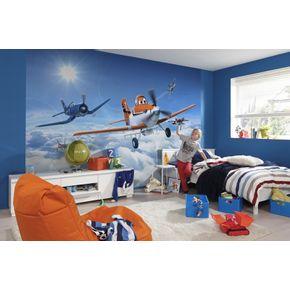 Mural-de-Parede-Infantil-Avioes-nas-Nuvens