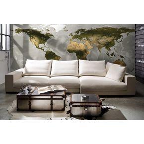 Mural-de-Parede-Mapa-World