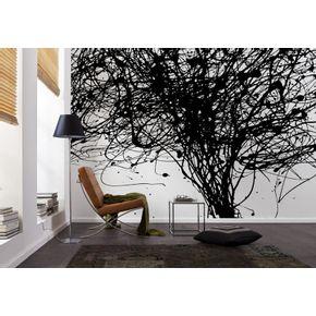 Mural-Moderno-de-Forma-Negra
