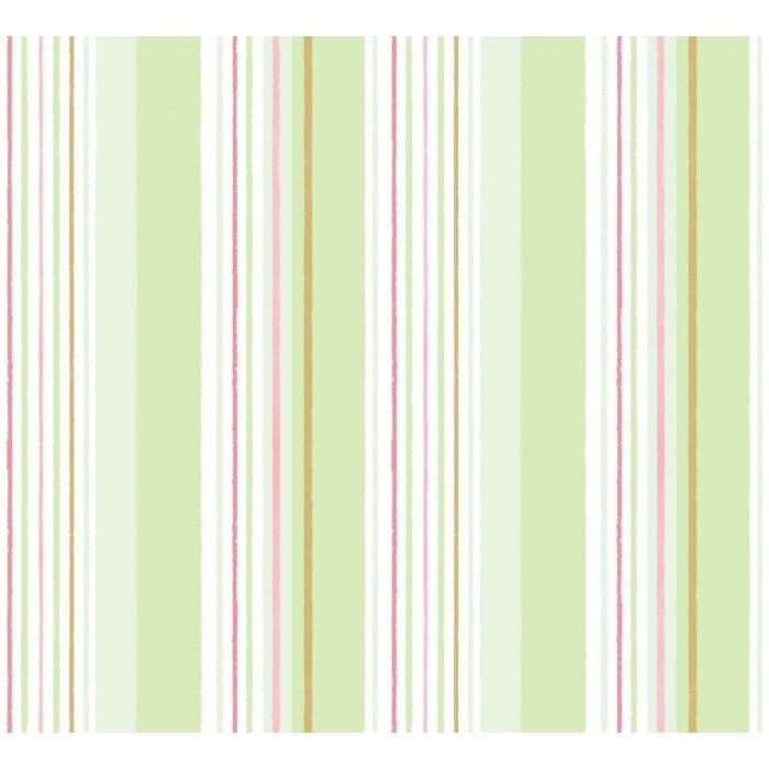 Papel de Parede Treboli Listrado Verde 5643 - Rolo: 10m x 0,53m