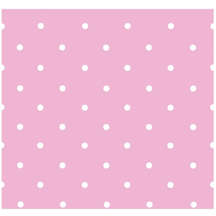 Papel de Parede Treboli Poá Rosa 5651 - Rolo: 10m x 0,53m