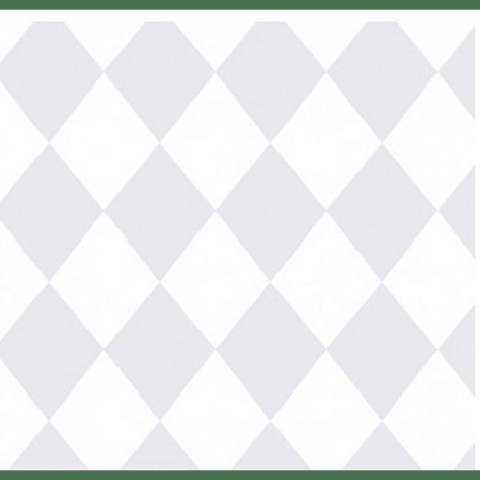 Papel de Parede Treboli Losangos Cinzas 5863 - Rolo: 10m x 0,53m