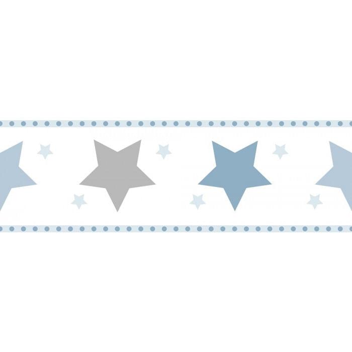 Faixa de Parede Treboli Estrelas Azuis 5941