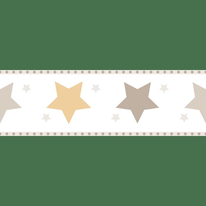 Faixa de Parede Treboli Estrelas Cinzas 5943