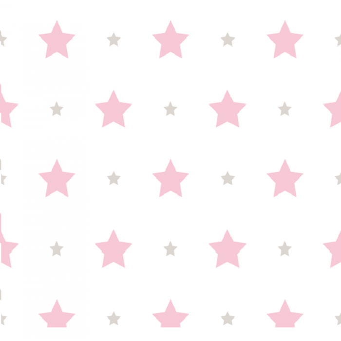 Papel de Parede Treboli Estrelas Rosas 5842 - Rolo: 10m x 0,53m