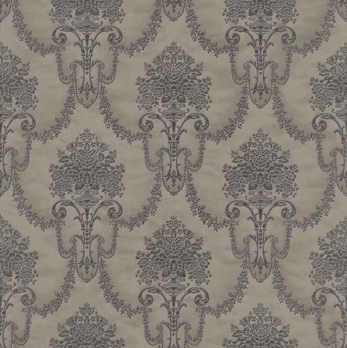Papel de Parede Trianon XI Damaschi Fino Fendi Escuro - Rolo: 10m x 0,53m