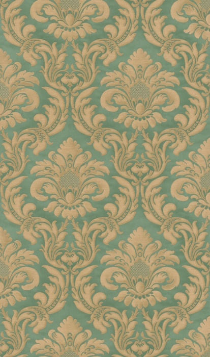 Papel de Parede Trianon XI Damaschi Verde - Rolo: 10m x 0,53m