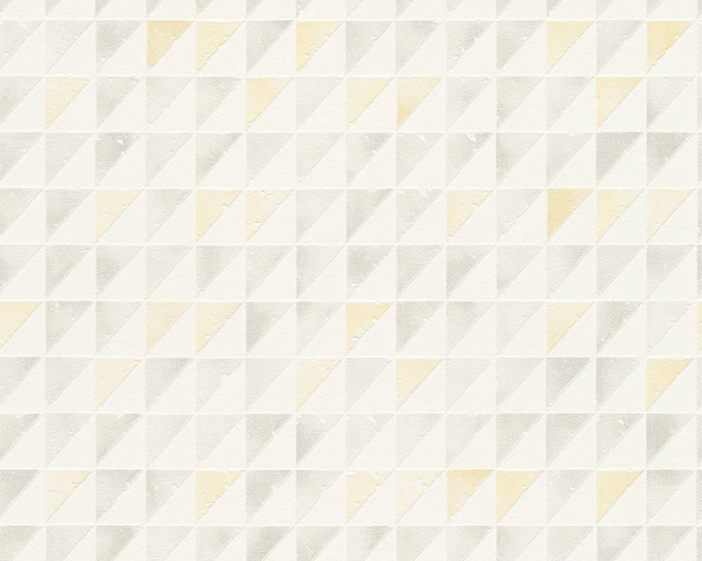 Papel de Parede Schöner Wohnen Kollektion Geométrico Colorido e Amarelo - Rolo: 10m x 0,53m