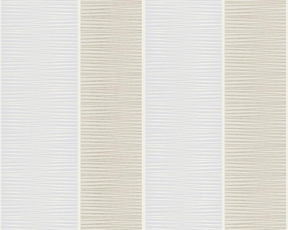 Papel de Parede Schöner Wohnen Kollektion Listrado Gráfico Cinza e Azul - Rolo: 10m x 0,53m