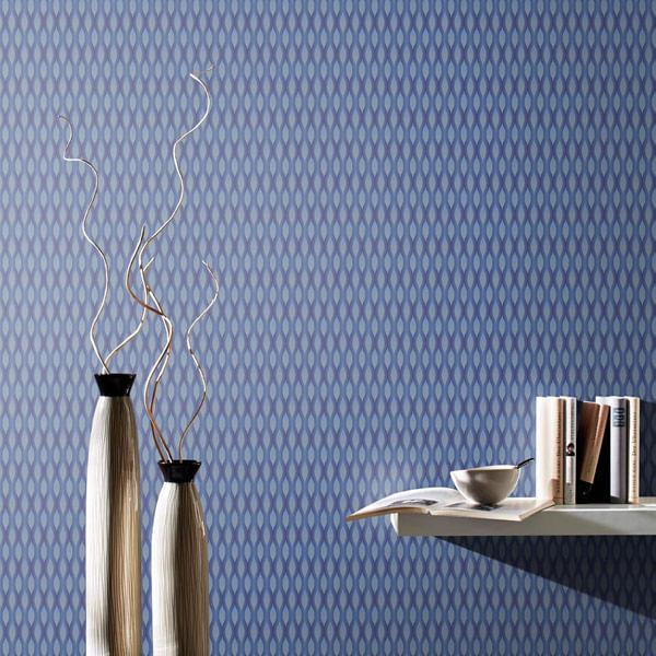 Papel de Parede Fusion Movimento Azul Brilho - Rolo: 10m x 0,53m