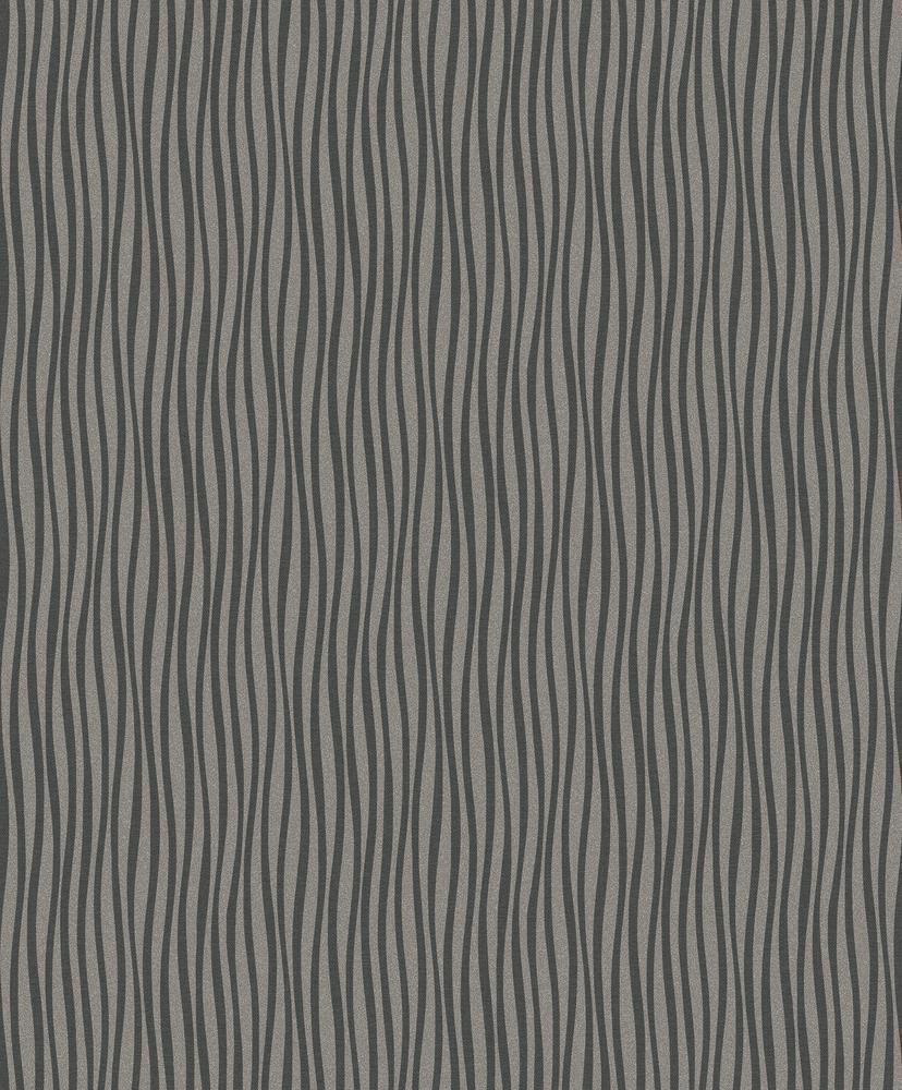 Papel de Parede Fusion em Listra Cinza Escuro - Rolo: 10m x 0,53m