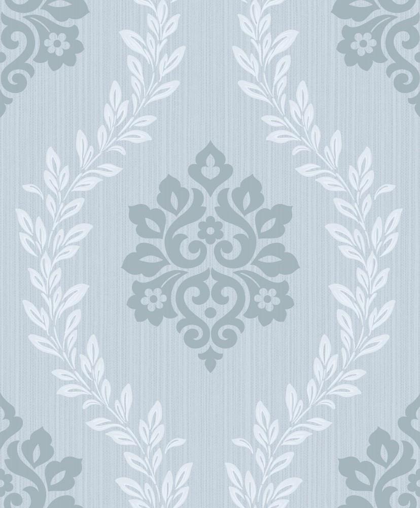 Papel de Parede Fusion Damask Azul - Rolo: 10m x 0,53m