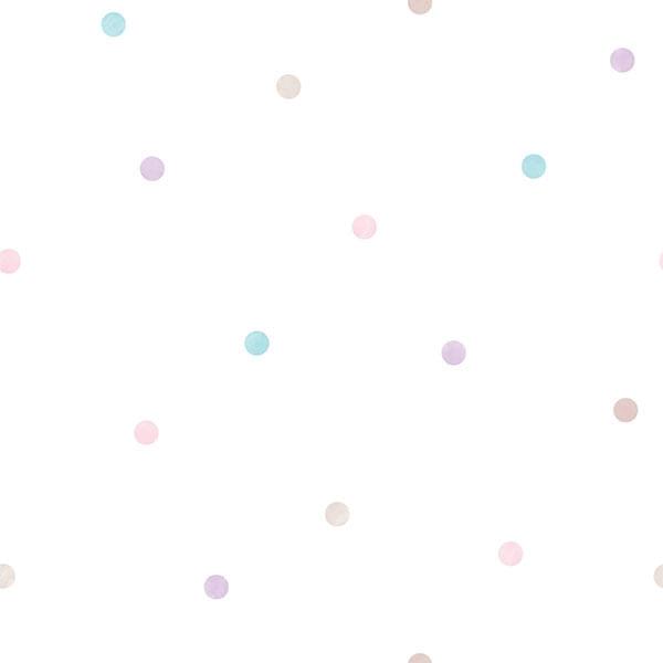 Papel de Parede Just 4 Kids Poá G56522 - Rolo: 10m x 0,52m