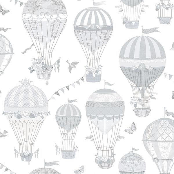 Papel de Parede Just 4 Kids Balões G56542 - Rolo: 10m x 0,52m