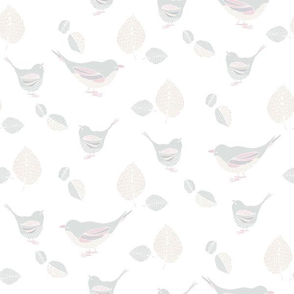 Papel de Parede Just 4 Kids Passarinhos G56540 - Rolo: 10m x 0,52m