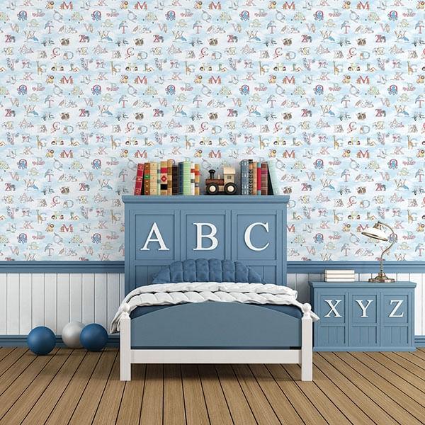 Papel de Parede Just 4 Kids Alfabeto G56537 - Rolo: 10m x 0,52m