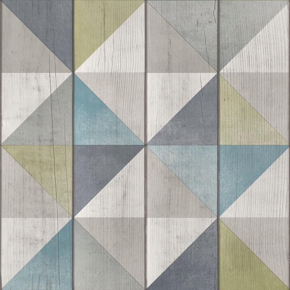 Papel de Parede Exposure EP3102 Painel de Madeira com Triângulos - Rolo: 10m x 0,53m