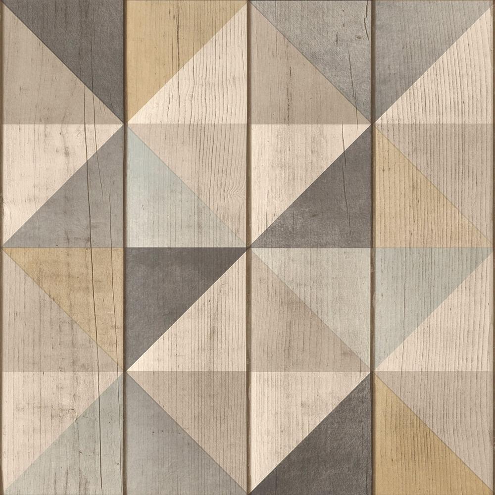 Papel de Parede Exposure EP3101 Painel de Madeira com Triângulos - Rolo: 10m x 0,53m
