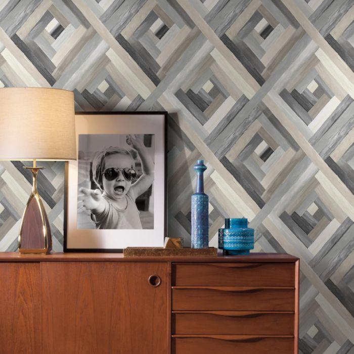 Papel de Parede Modern Art Wynwood Geométrico UC3834 - Rolo: 10m x 0,52m