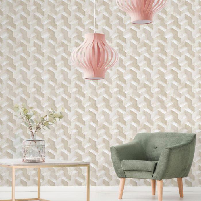 Papel de Parede Modern Art Geométrico 3D DI4727 - Rolo: 10m x 0,52m