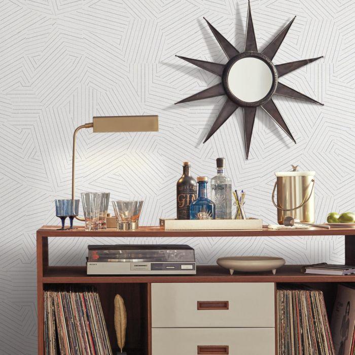 Papel de Parede Modern Art Prisma Costurada UC3800 - Rolo: 10m x 0,52m