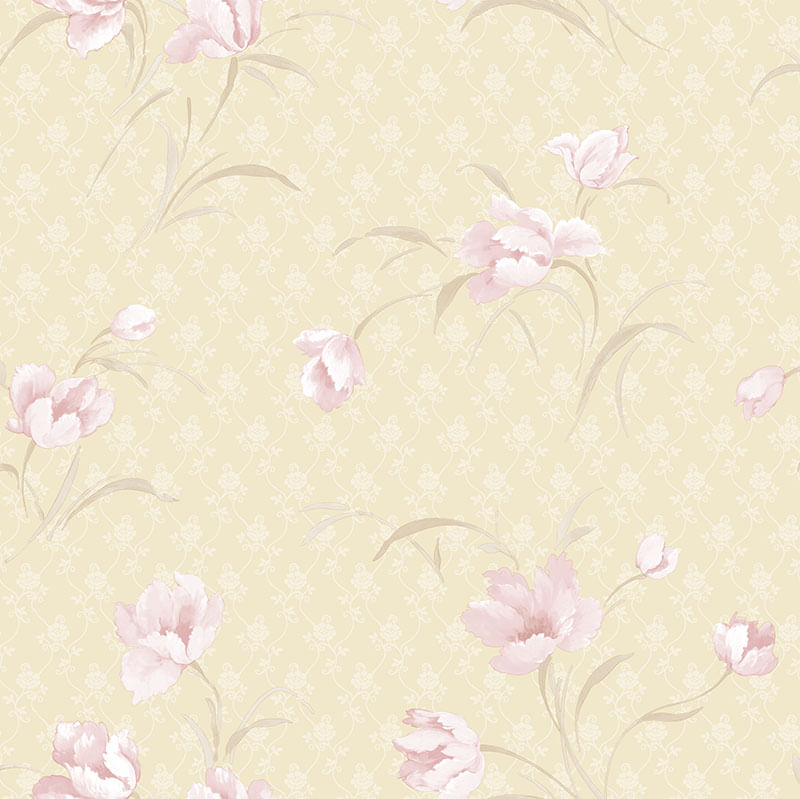 Papel de Parede A Maze Floral RN22330 - Rolo: 10m x 0,53m