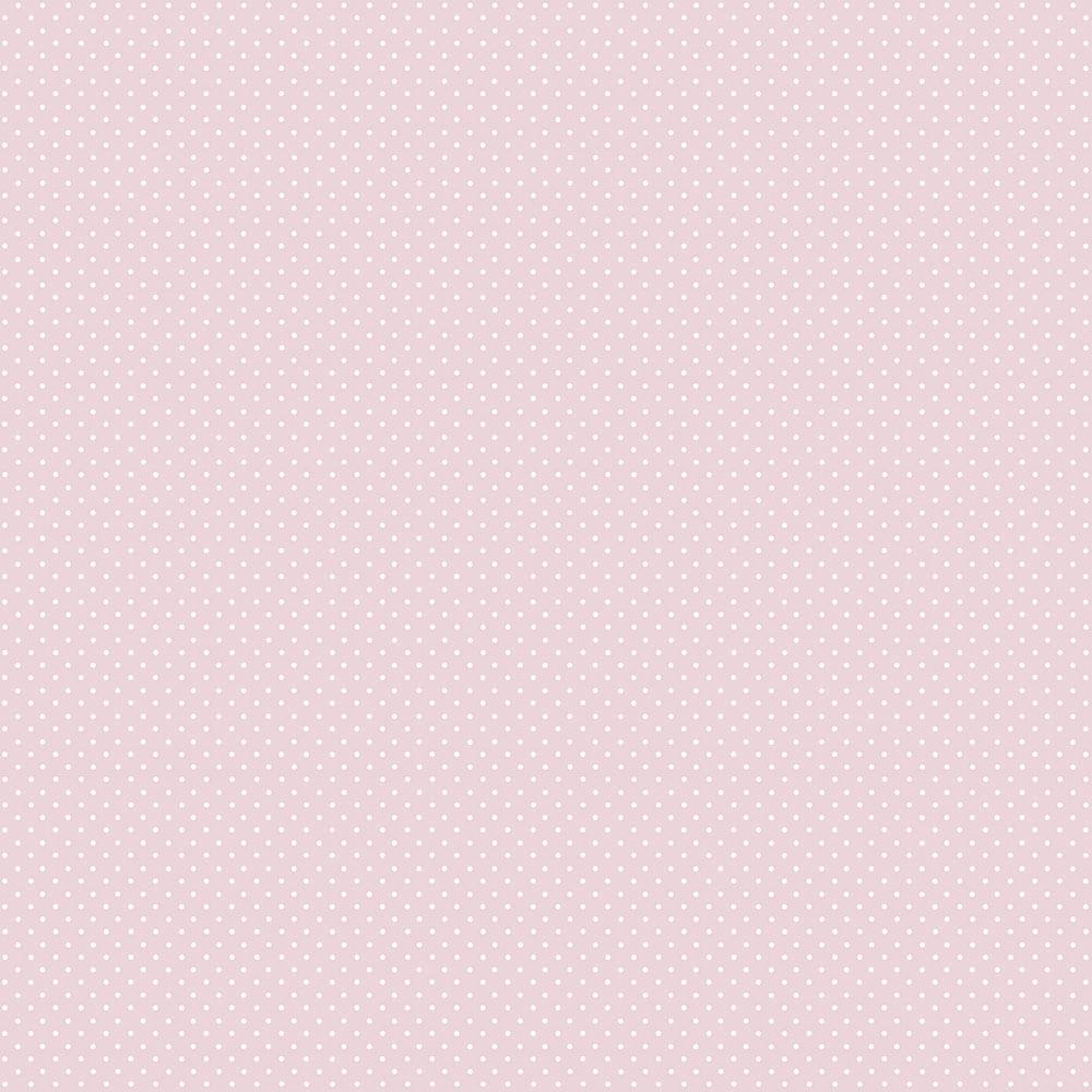 Papel de Parede Lullaby Poá Rosa 2272 - Rolo: 10m x 0,53m