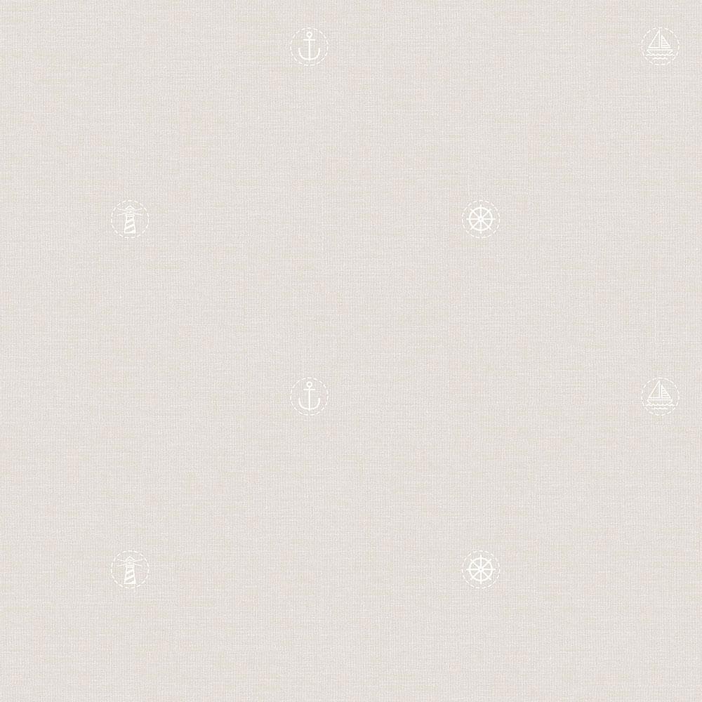 Papel de Parede Lullaby Marinheiro Bege 2263 - Rolo: 10m x 0,53m