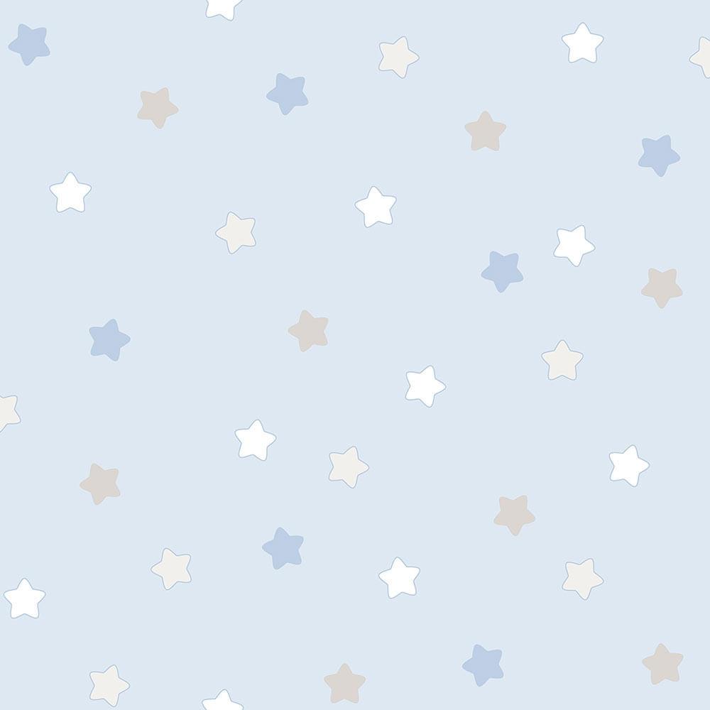 Papel de Parede Lullaby Estrelas Azul 2251 - Rolo: 10m x 0,53m