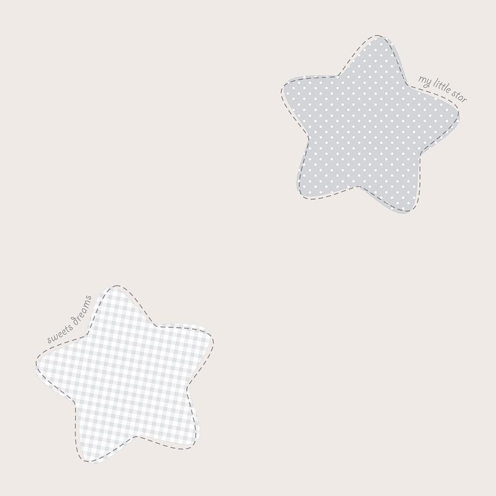 Papel de Parede Lullaby Estrela Polaris Cinza 2243 - Rolo: 10m x 0,53m