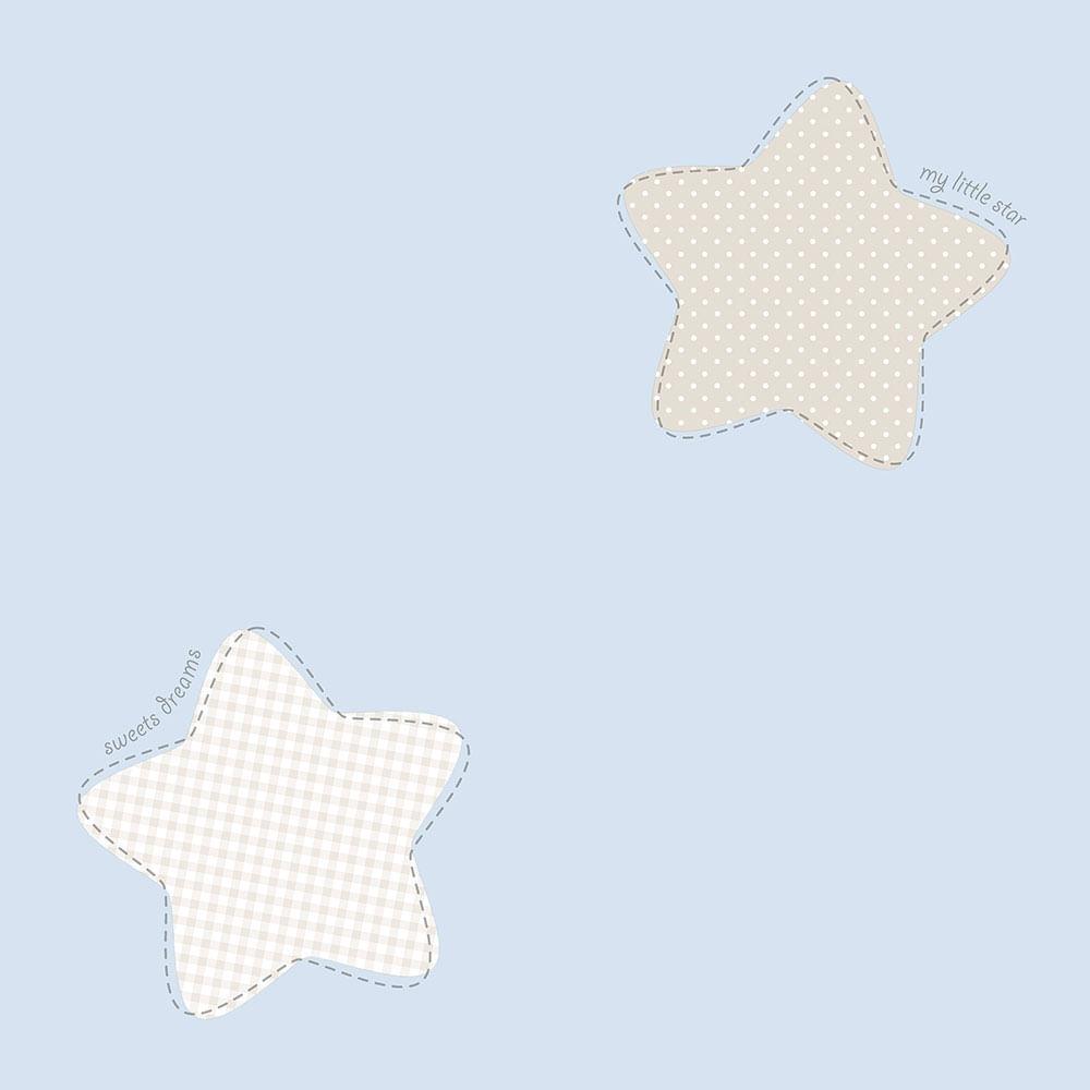 Papel de Parede Lullaby Estrela Polaris Azul 2241 - Rolo: 10m x 0,53m