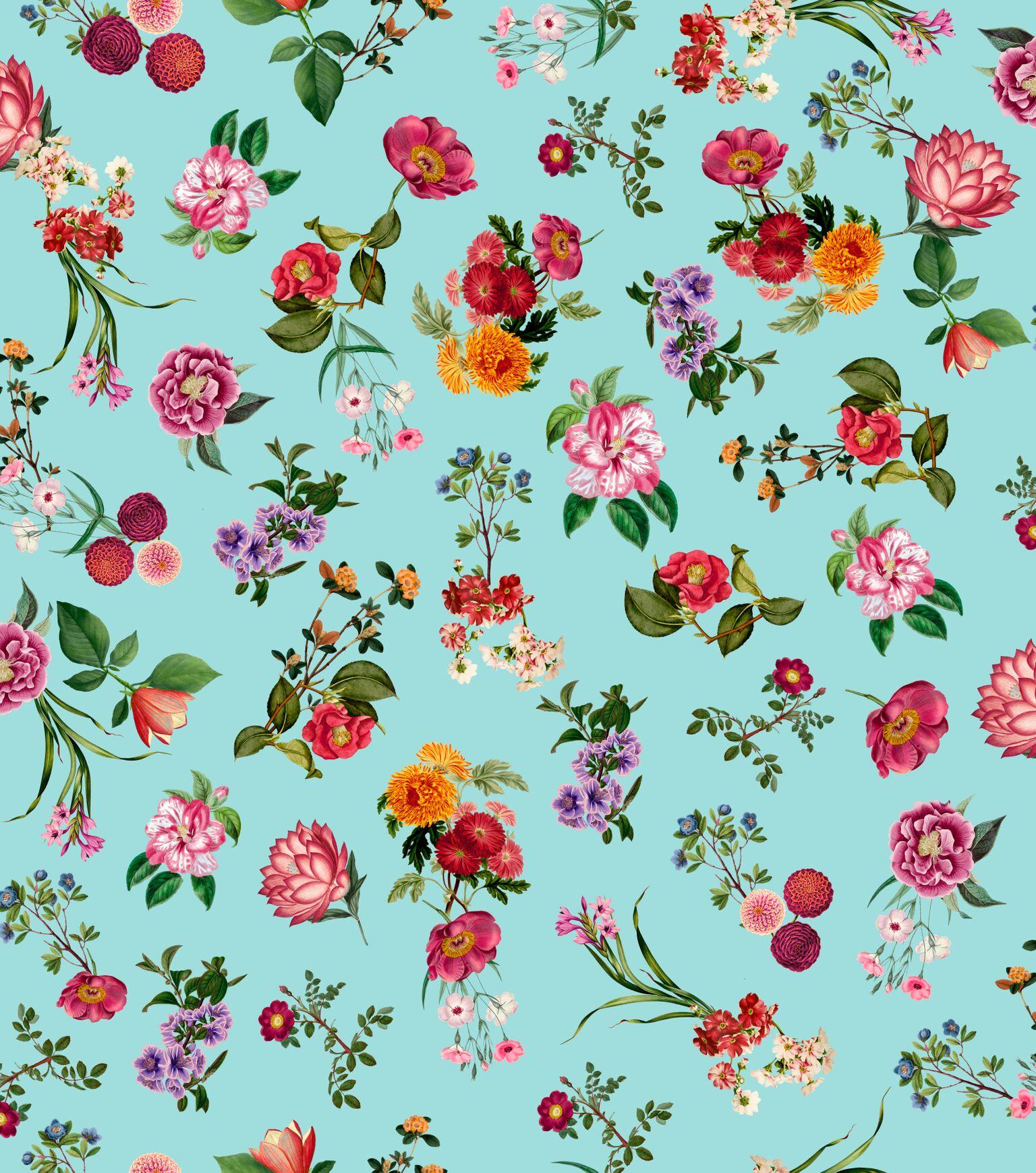 Papel de Parede Coleção Brincar Floral 3650 - Rolo: 10m x 0,52m