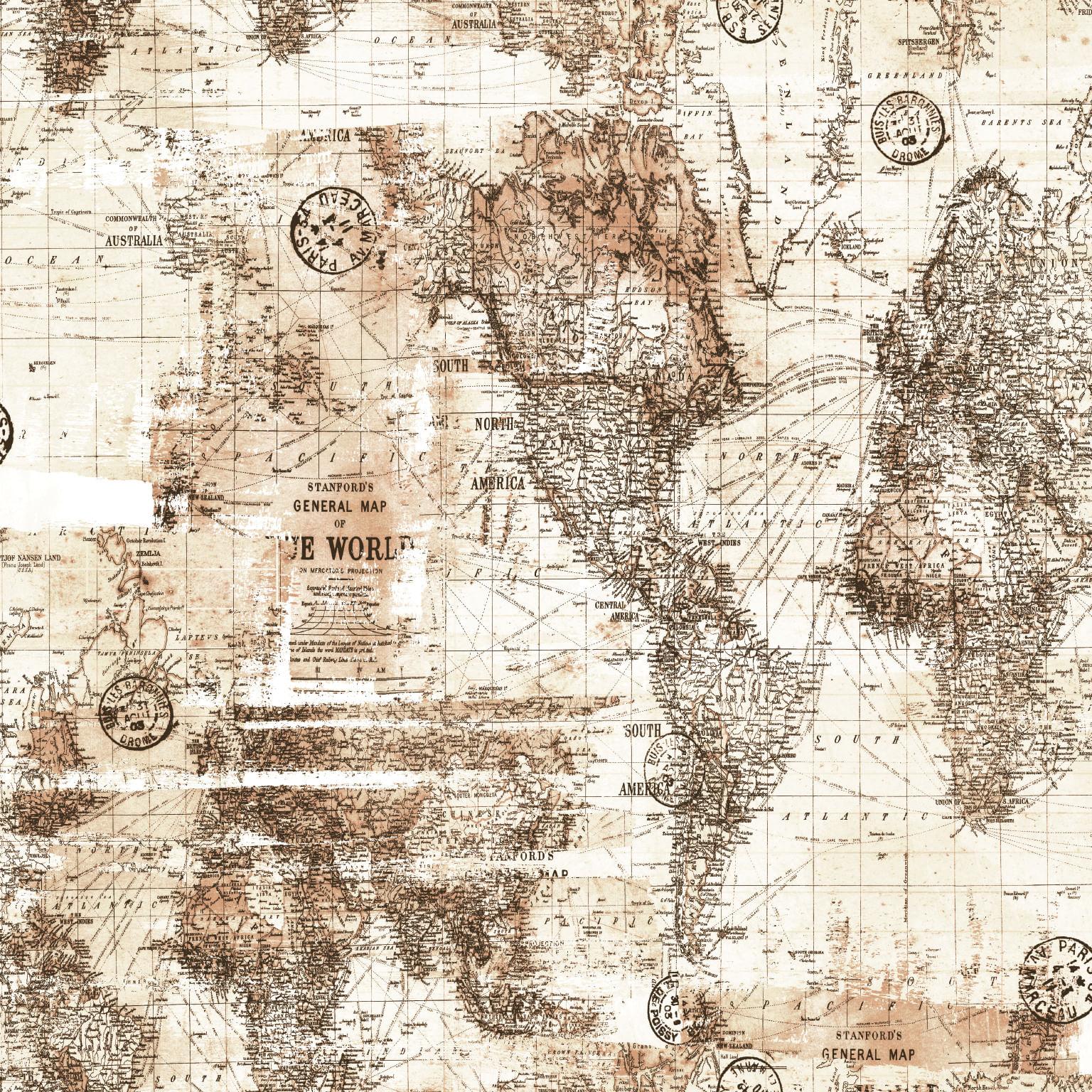 Papel de Parede Coleção Brincar Mapa 3649 - Rolo: 10m x 0,52m
