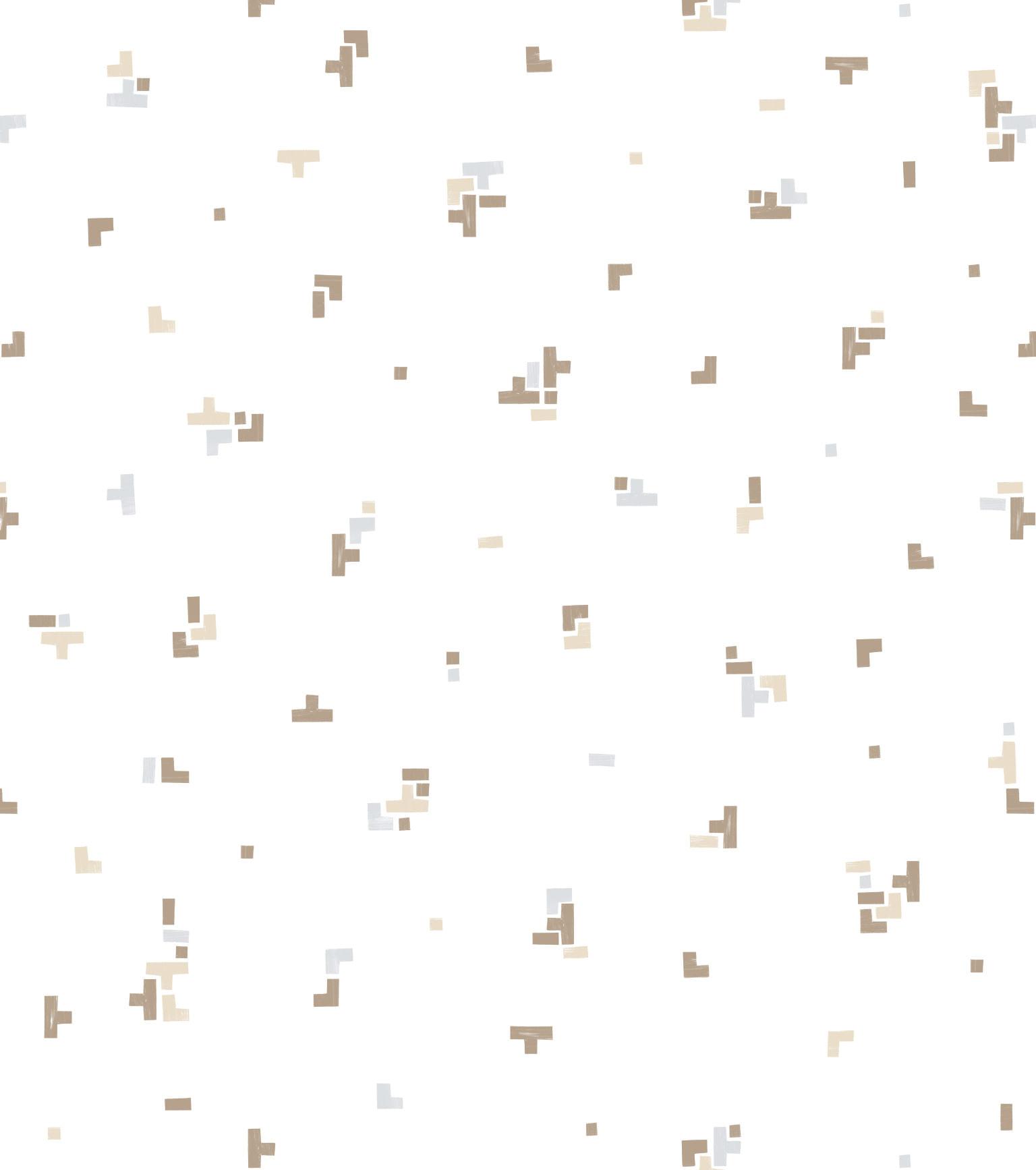 Papel de Parede Coleção Brincar Geométrico 3637 - Rolo: 10m x 0,52m