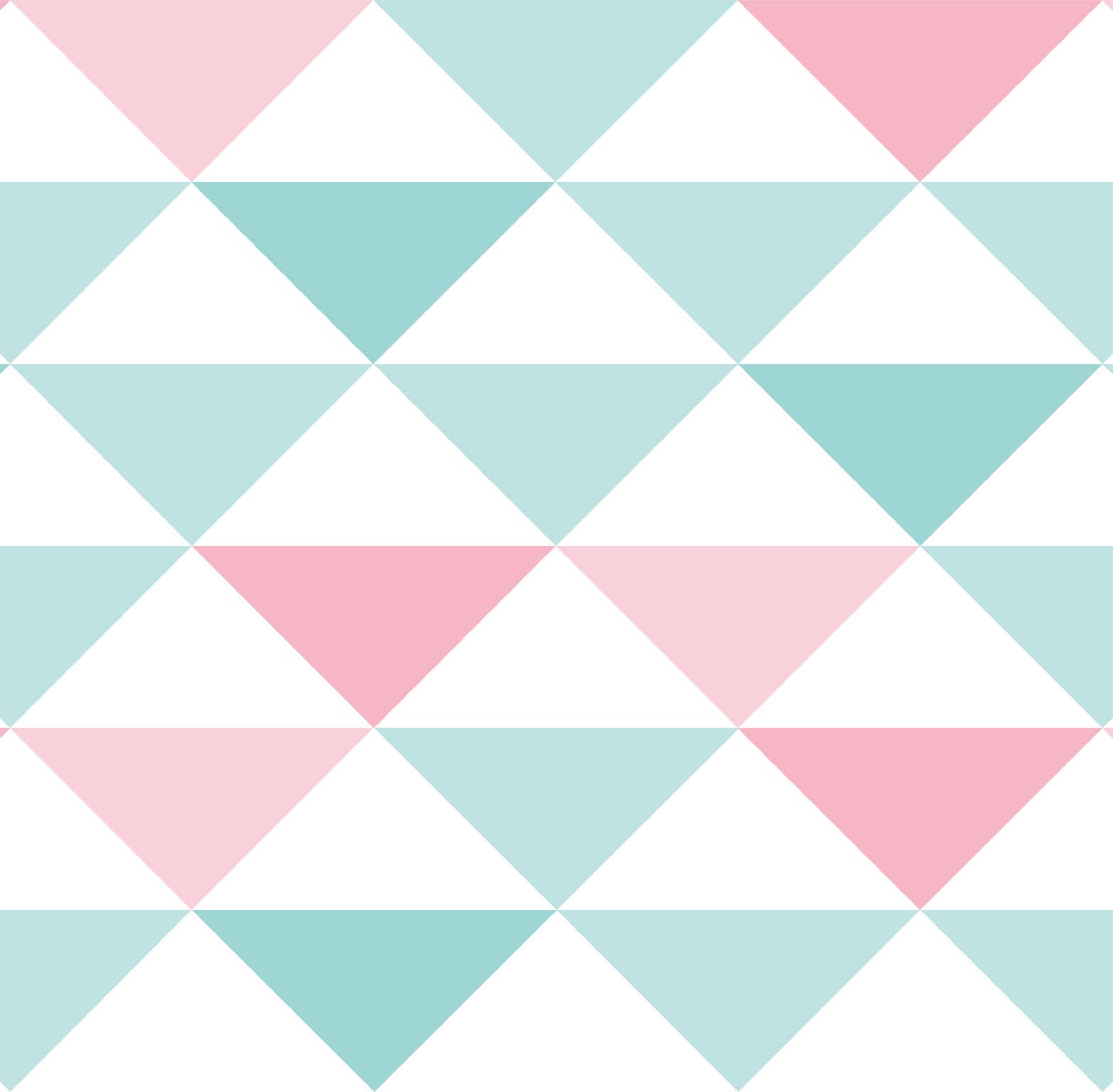 Papel de Parede Coleção Brincar Triângulo Geométrico 3600 - Rolo: 10m x 0,52m