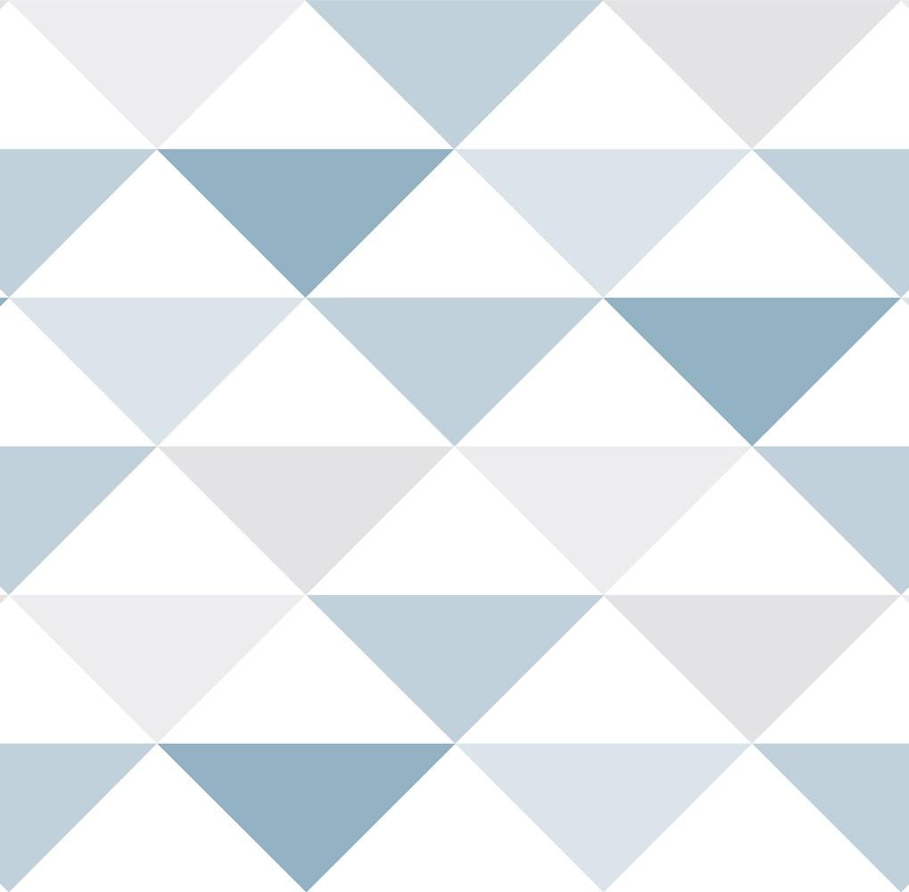 Papel de Parede Coleção Brincar Triângulo Geométrico 3601 - Rolo: 10m x 0,52m