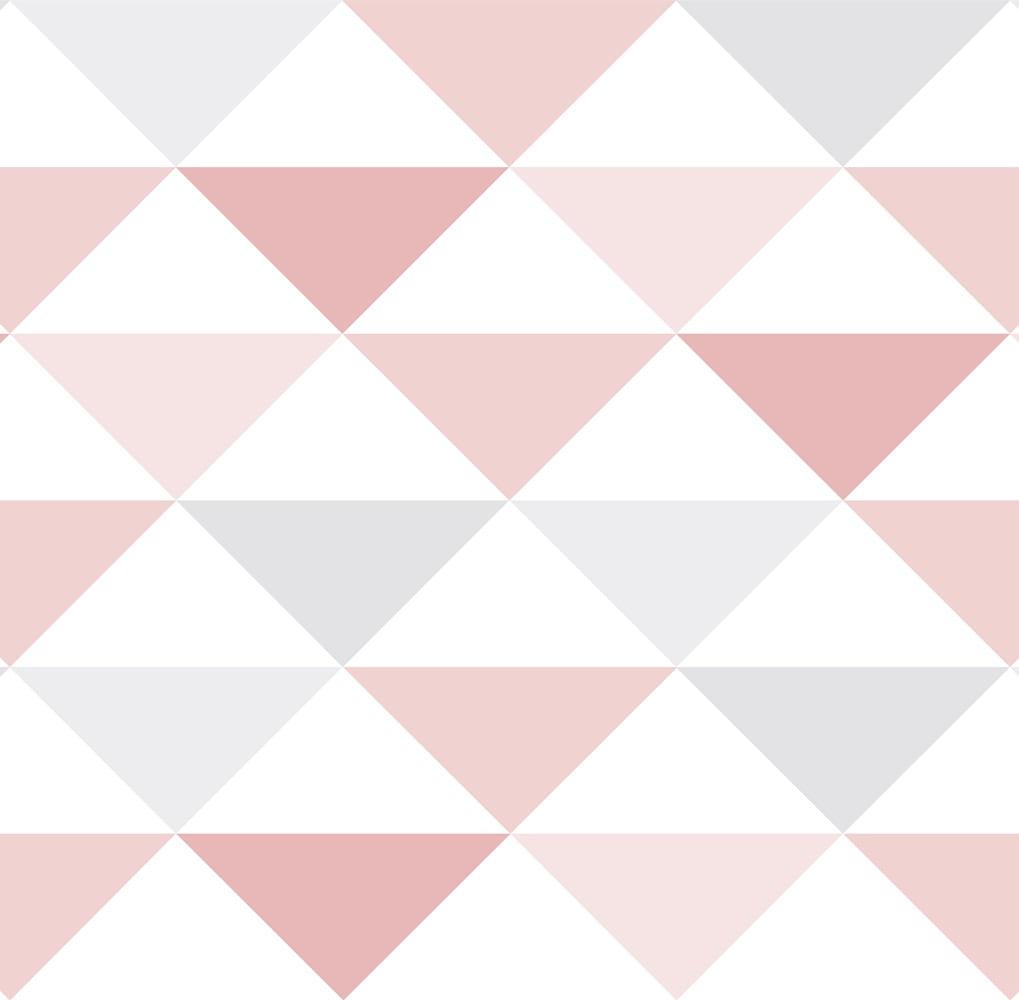 Papel de Parede Coleção Brincar Triângulo Geométrico 3602 - Rolo: 10m x 0,52m