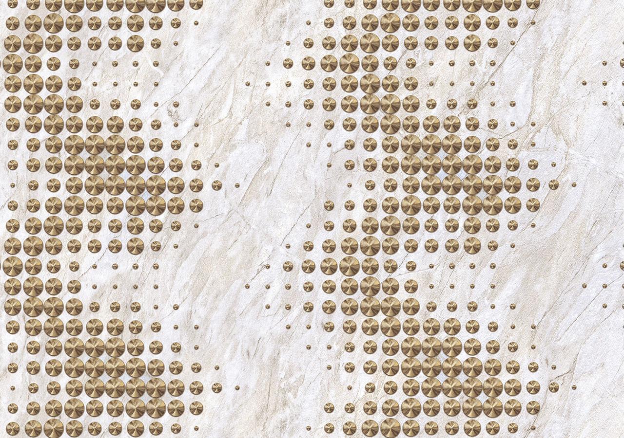 Papel de Parede Terra Gracia Stud Marble (Bianco Gold) 831012