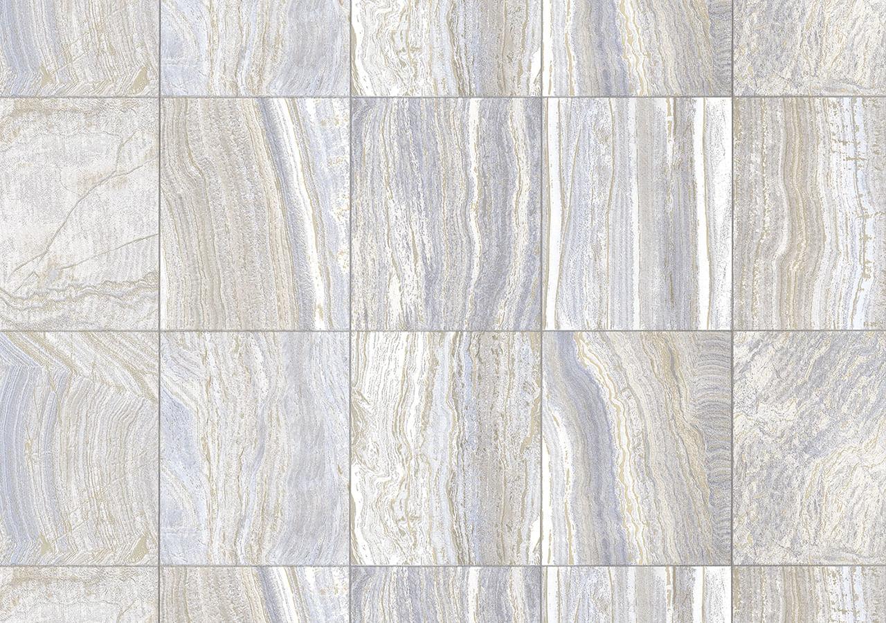 Papel de Parede Terra Gracia Square Marble (Bianco Silver) 831031