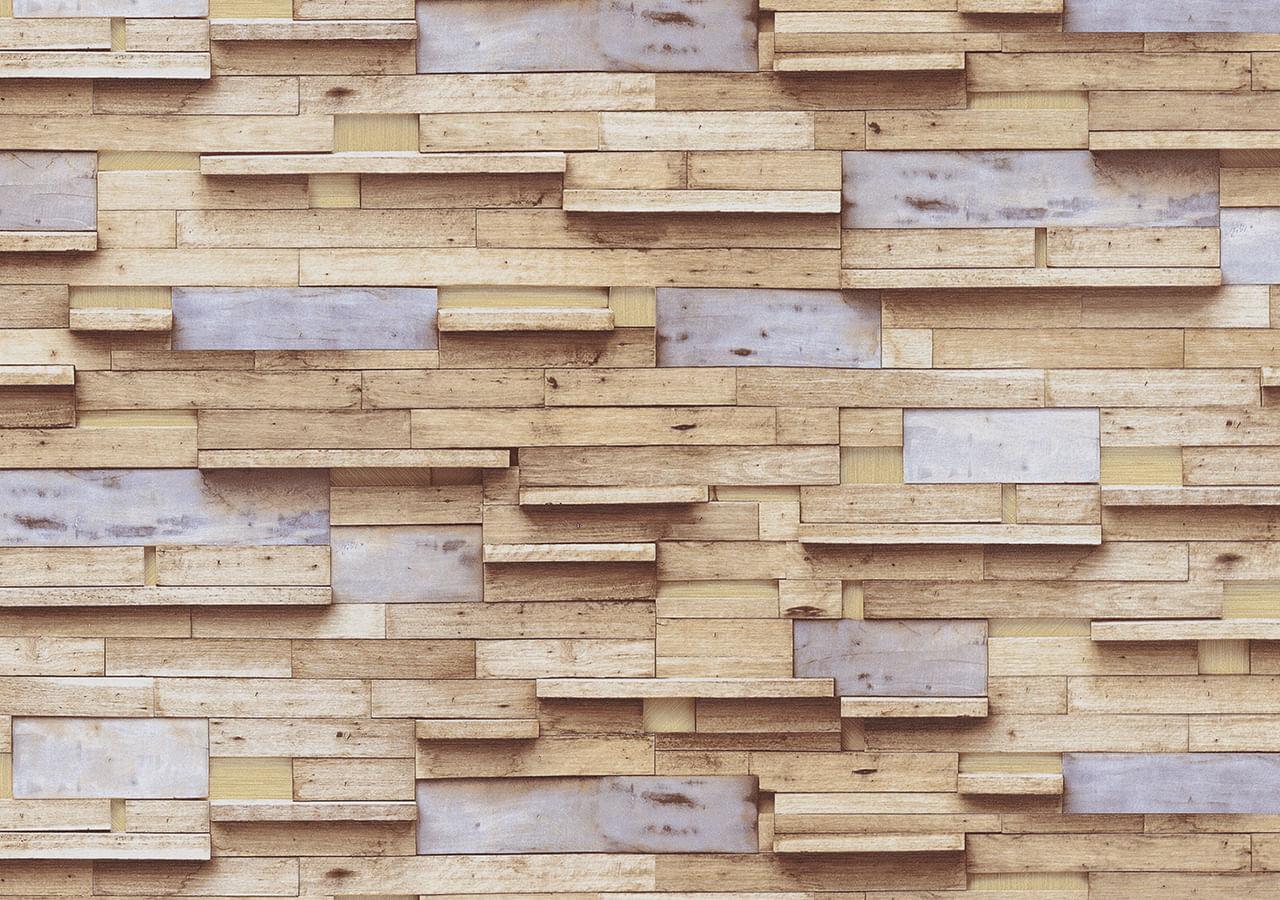 Papel de Parede Terra Gracia Multi Color Wood (Light Ocher) 831161