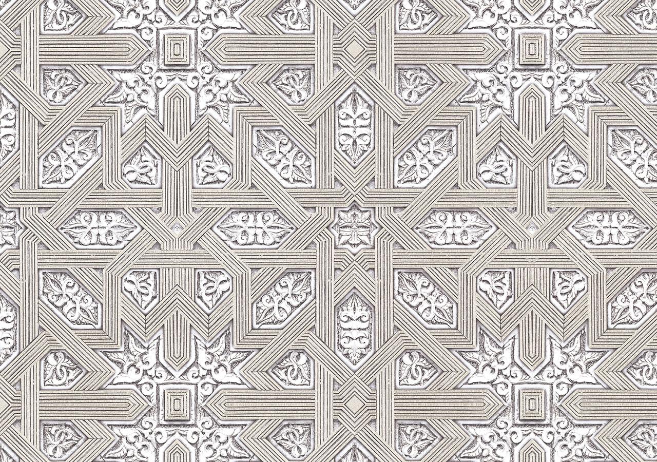 Papel de Parede Terra Gracia Carved Wood (Champaign Grey) 831222