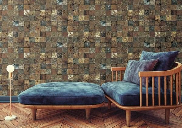 Papel de Parede Terra Gracia Square Stone (Rusty Dark) 831074