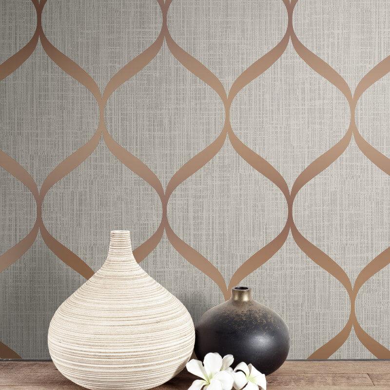 Papel de Parede Shimmer Fluidez Aspecto Têxtil UK21201 - Rolo: 10m x 0,52m