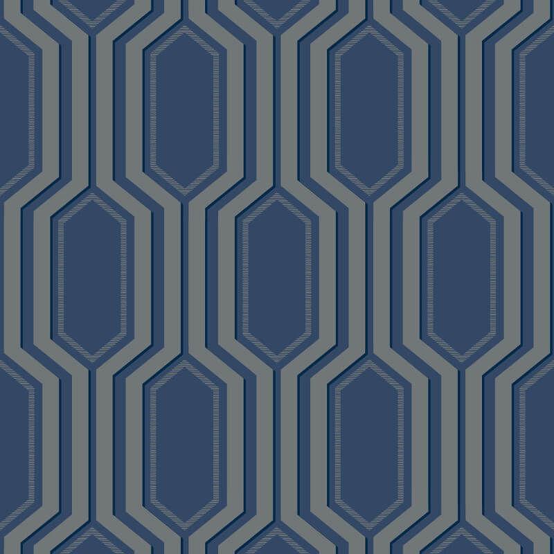Papel de Parede Shimmer Diagrama UK30802 - Rolo: 10m x 0,52m