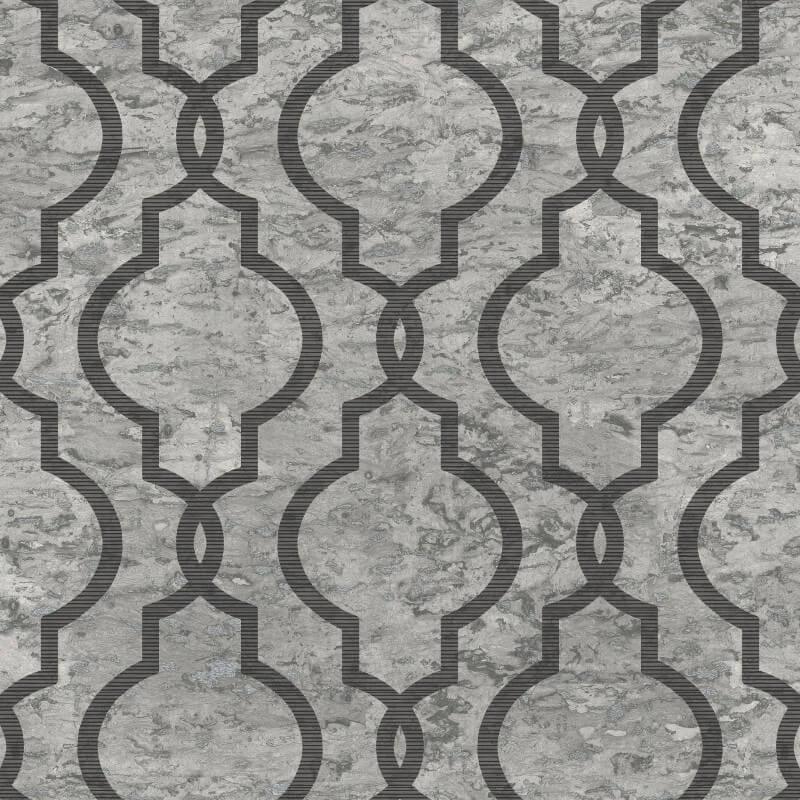 Papel de Parede Shimmer Geometria em Mármore UK20910 - Rolo: 10m x 0,52m