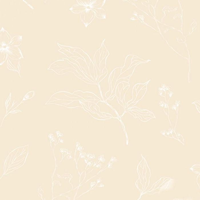 Papel de Parede YOYO Folhas e Flores YY222602K - Rolo: 10m x 0,53m