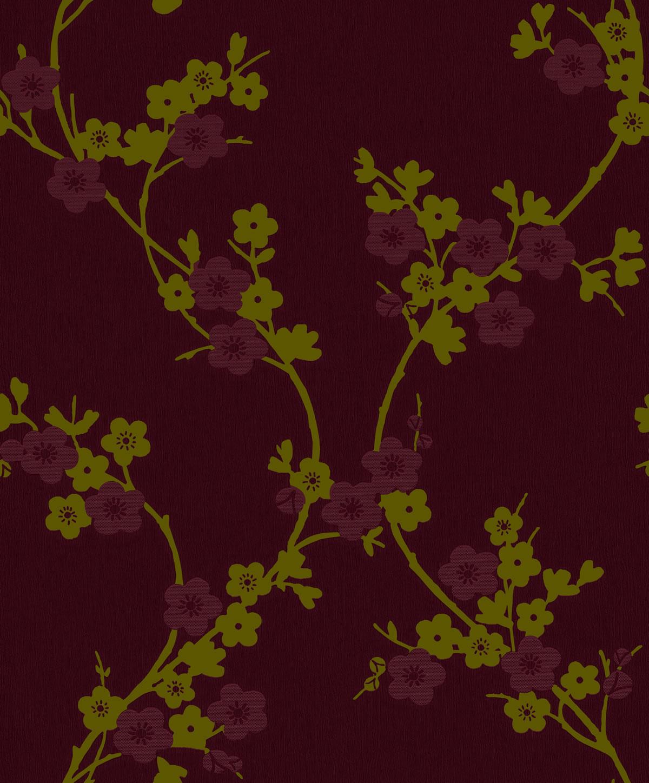 Papel de Parede Mido Floral 105036 - Rolo: 10m x 0,53m